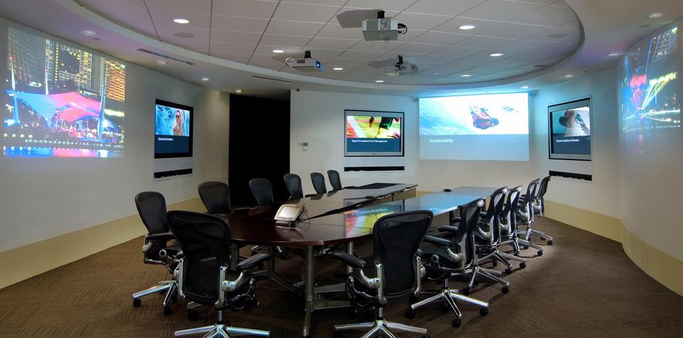 Giải pháp Phòng họp trọn gói từ nội thất sang trọng đến thiết bị công nghệ hiện đại